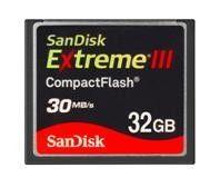 SanDisc представляє карти пам`яті 32GB Extreme III Compact Flash